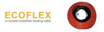 ecoflex inscreed underfloor heating cables