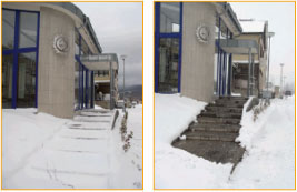 ice prevention and snow melting before and after photos