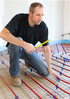 installating underfloor heating