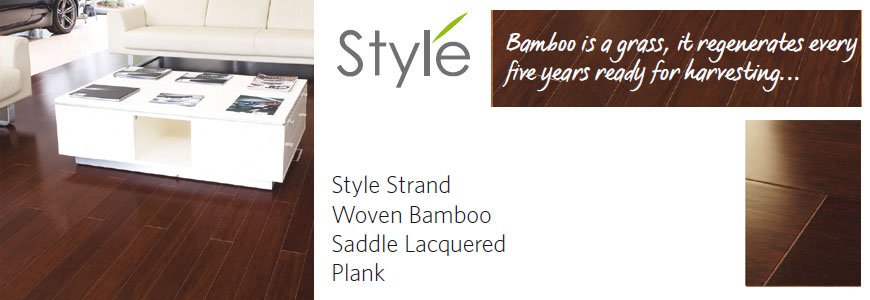 style bamboo flooring: strand woven saddle lacquered plank flooring
