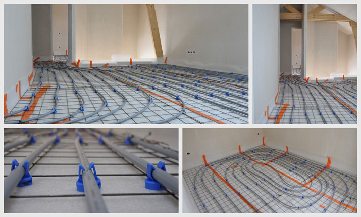 warm water underfloor heating systems
