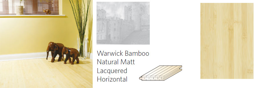 warwick bamboo flooring: natural matt lacquered horizontal flooring
